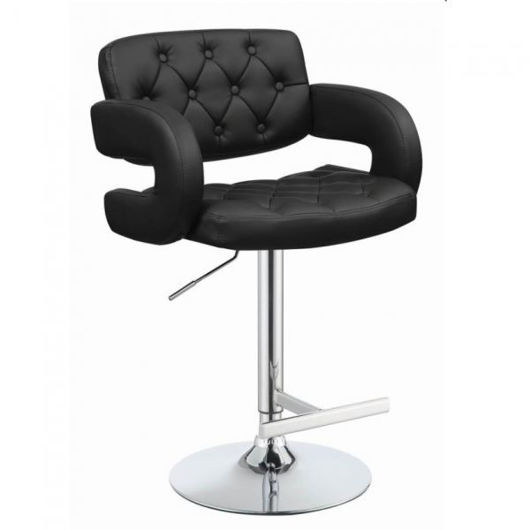 Picture of Black Adjustable Barstool