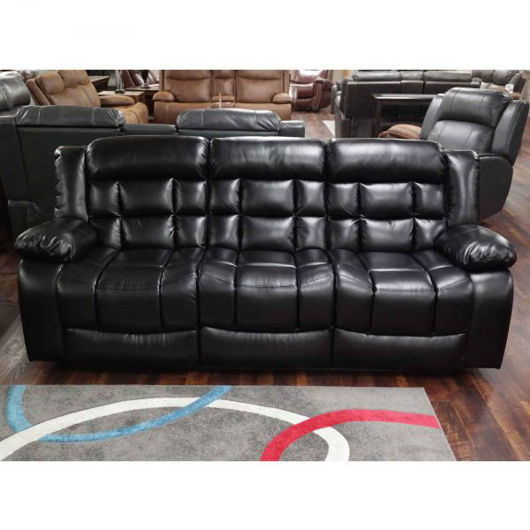Picture of Blanche Black Reclining Sofa