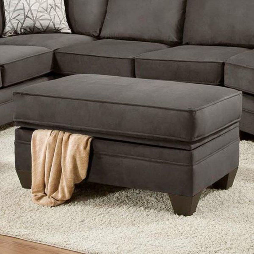 Picture of Flannel Seal Storage Ottoman