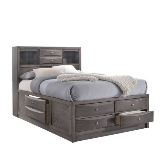Picture of Emily Grey King Storage Bed