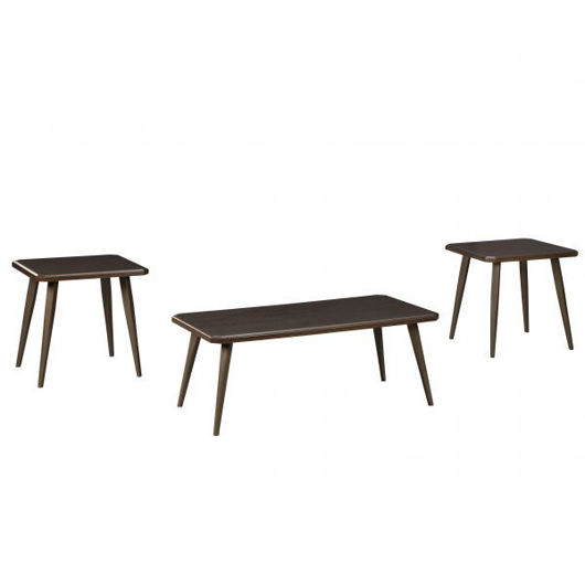 Picture of Fazani Brown 3 Pc Table Set