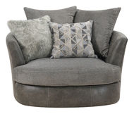 Picture of Grey Swivel Chair with 3 Pillows